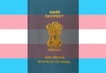 Indian Passport in transgender flag