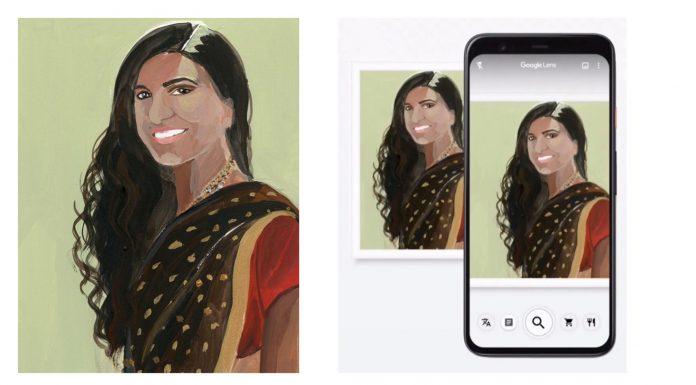 Painting of Neysara by artist Gayle Kabaker on Google lens